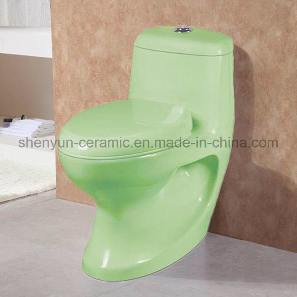 Ceramic One-Piece Toilet Color Toilet Washdown (A-028)