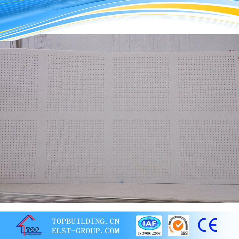 1200*2400*12mm Acoustic Gypsum Board/Perforated Gypsum Board
