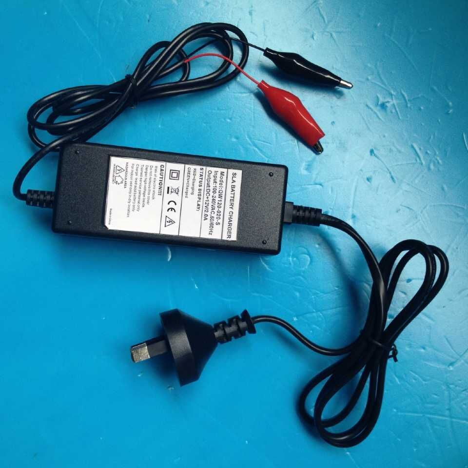 12V 2A Automatic3 Stage Battery Charger