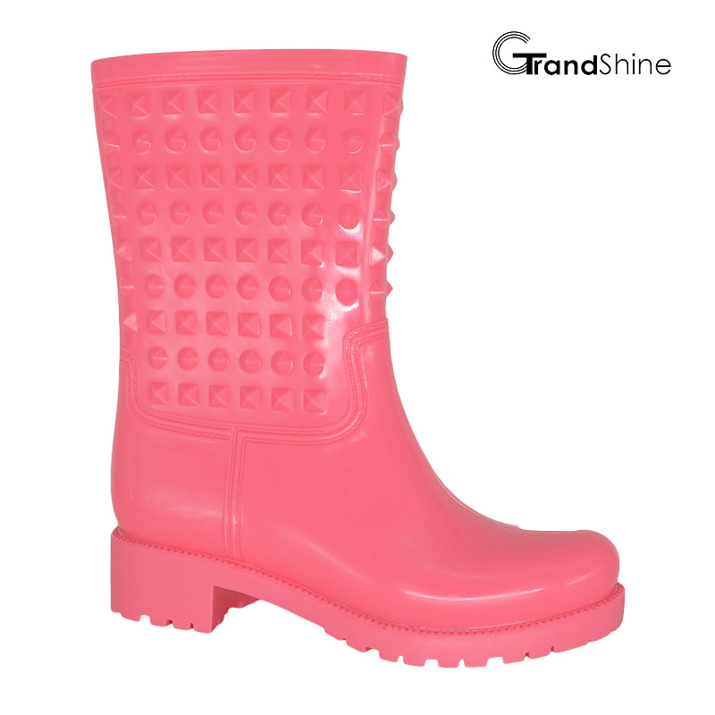 Women′s Fashion PVC Rain Low Boot