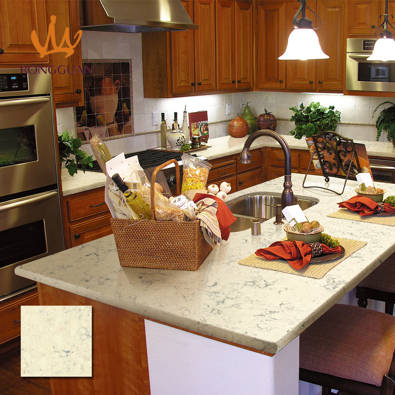 Good Price Yellow Color Artificial Quartz Countertops for Kitchen