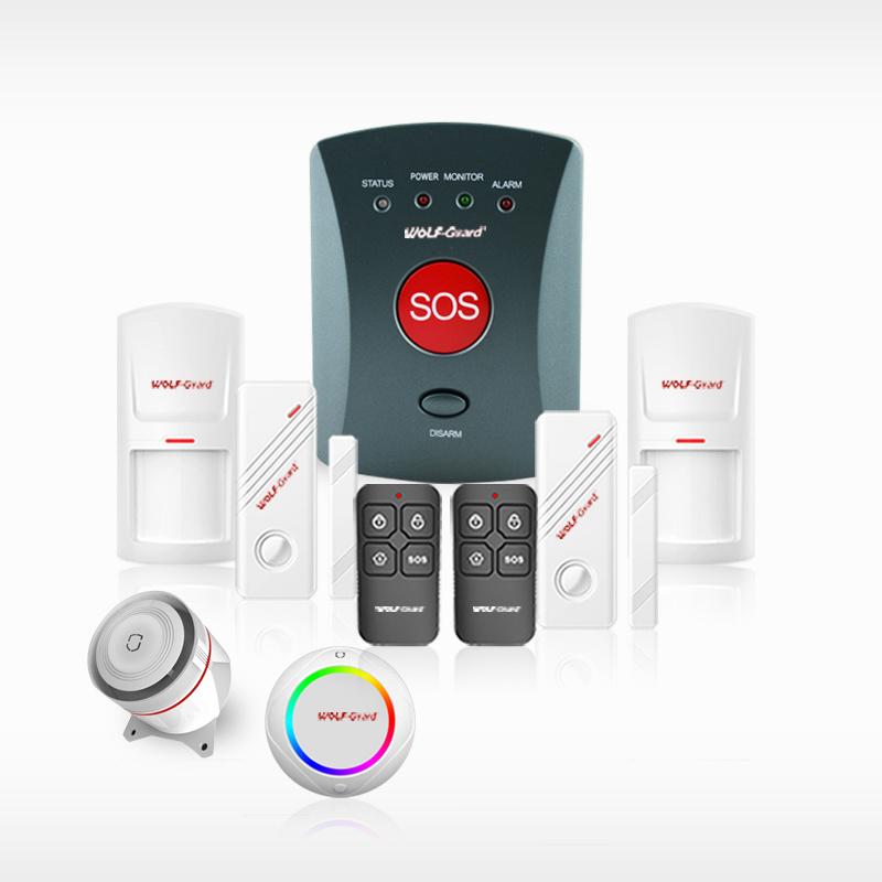 850 / 900 / 1800 / 1900 Home Wireless Intruder Alarm System + GSM Communiction Panel + Sos + Wireless Sensor + Wired Sensor