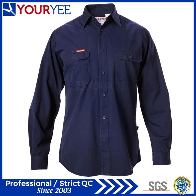 Long Sleeve Customized Work Shirts for Men (YWS111)