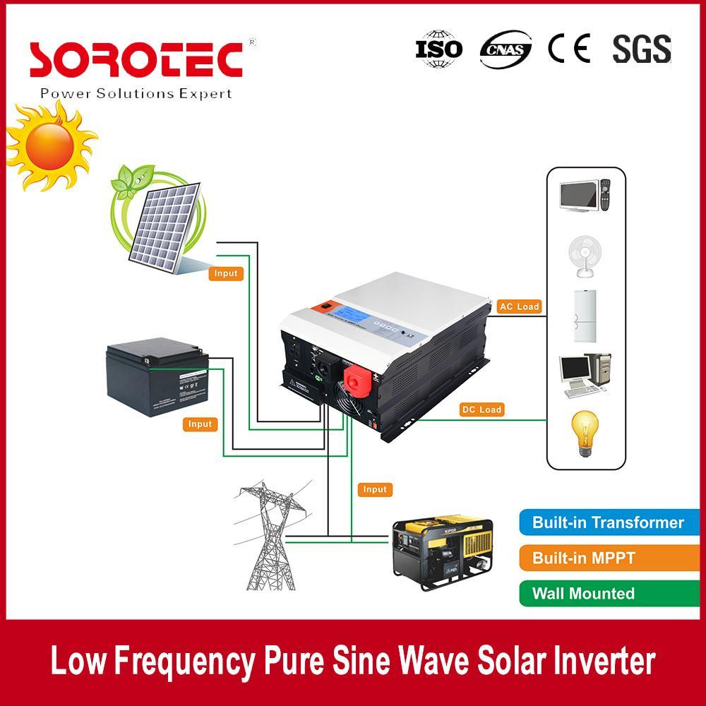 Pure Sine Wave Solar Inverter with MPPT Solar Charge Controller SSP3115C 1000-10000va