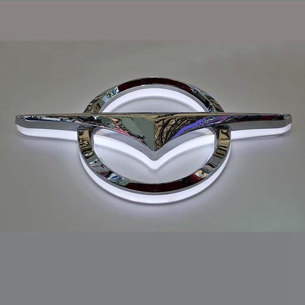Car Shop Epoxy Resin Metal Plating Backlit Car Logo Sign