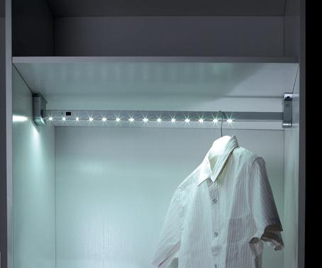 Wardrobe LED Light Rod for Closet Use with LED Lighting