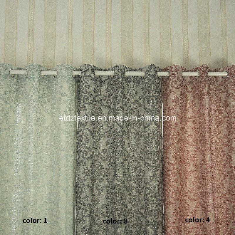 European Popular Pattern Polyester Curtain Fabric