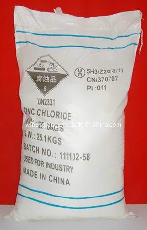 Battery Grade White Powder 98%Min Zinc Chloride Prompt shipment