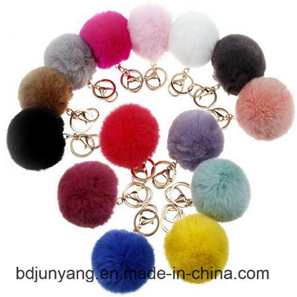 Fashion Real Rabbit Fur Ball for Woman Bags