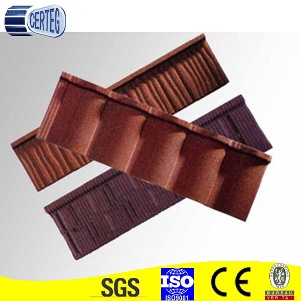 Color Stone Coated Metal Roof Tiles Weight
