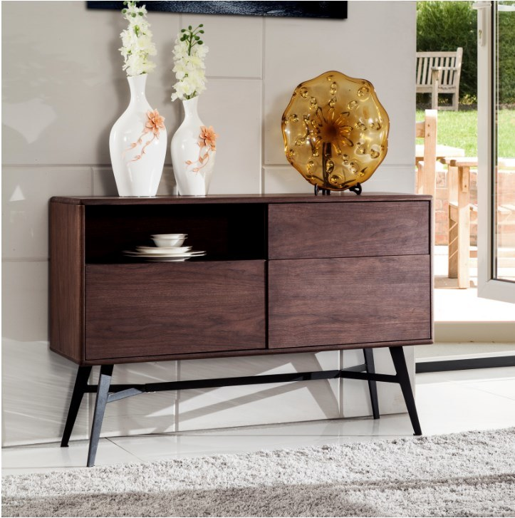 MDF with Walnut Wood Veneer Dining Cabinet&Sideboard (SC001)