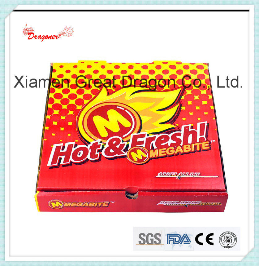Locking Corners Pizza Box for Stability and Durability (PIZZA-004)
