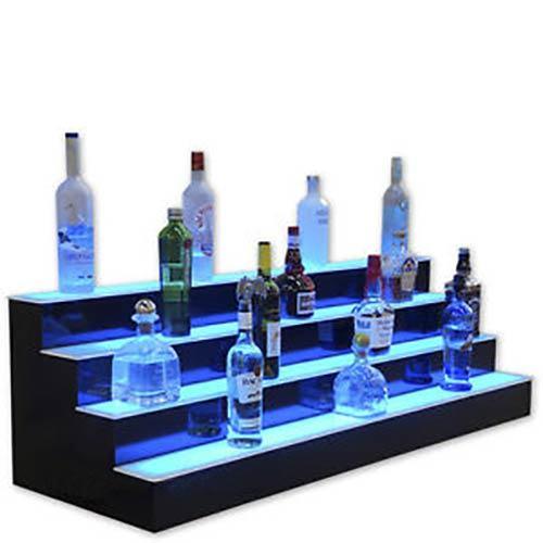 China Acrylic Lightbox Counter Top Display Shelf for Bottles, POS Display Merchandiser