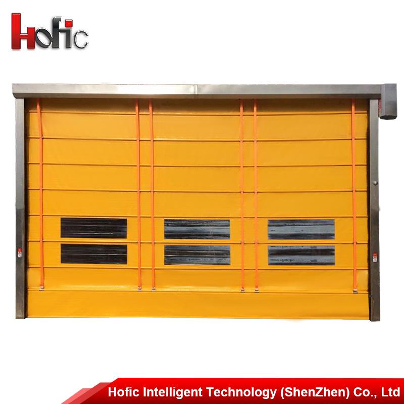 Interior High Speed Roller Shutter Stacking Door with Transparent Window