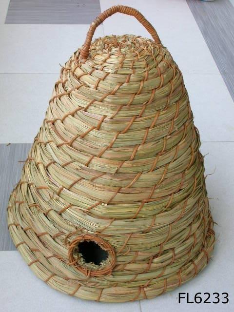 China bee skep fl6233 china bee skep rattan animal - Wicker beehive basket ...
