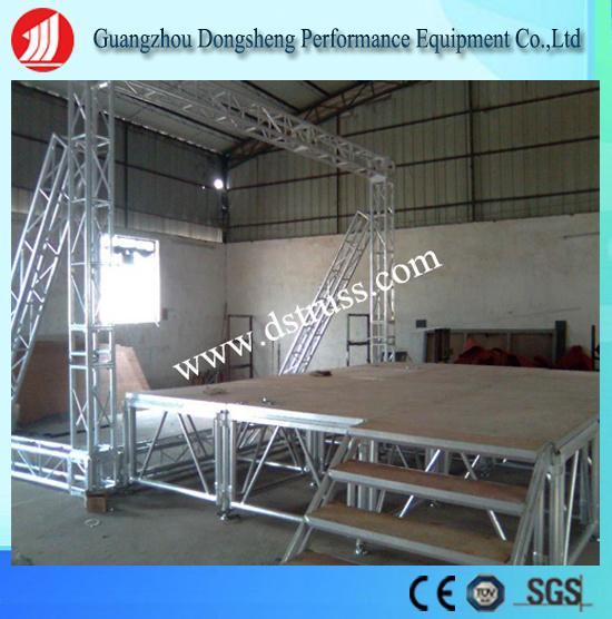 Performance Use Adjustable Folding Stage Aluminum Alloy Mobile Stage