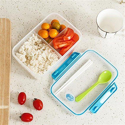Smart Plastic Microwave Food Storage Box Refridgerator Organizer Container Bento Lunch Box Chopsticks Spoon Sets Divider Boxes