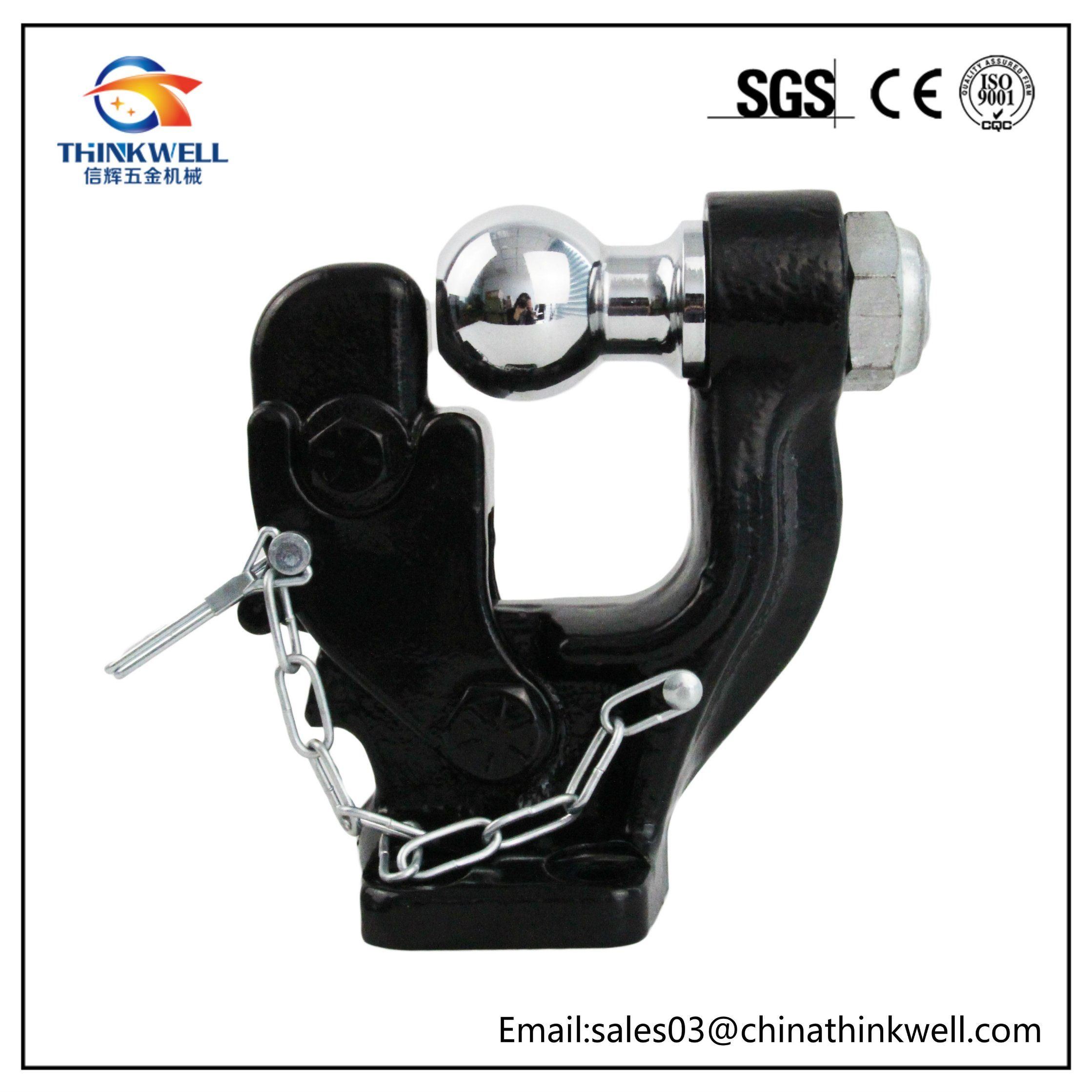 8 Ton Heavy Duty Pintle Hook with Ball Trailer Ball and Pintle Hook