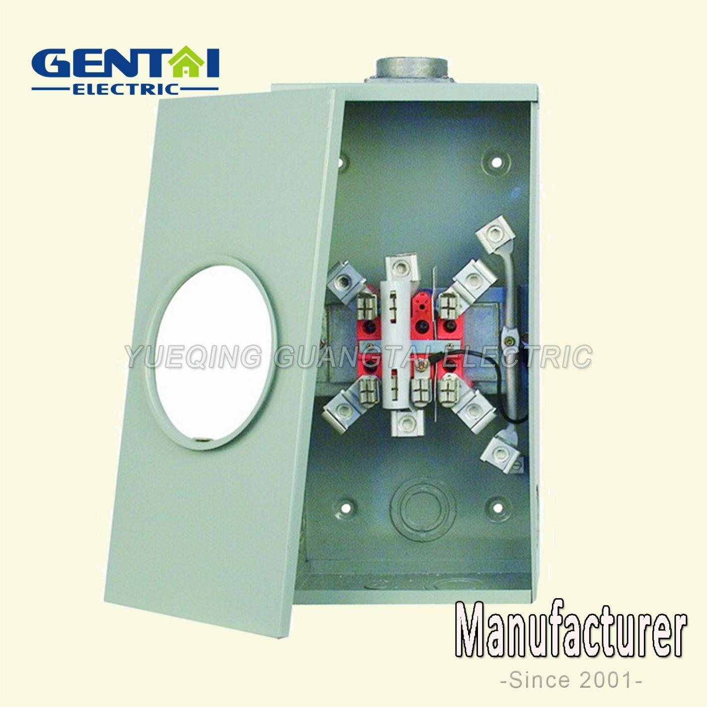 Ringless Type Gtfp-200A 7 Jaw Rectangular Meter Base