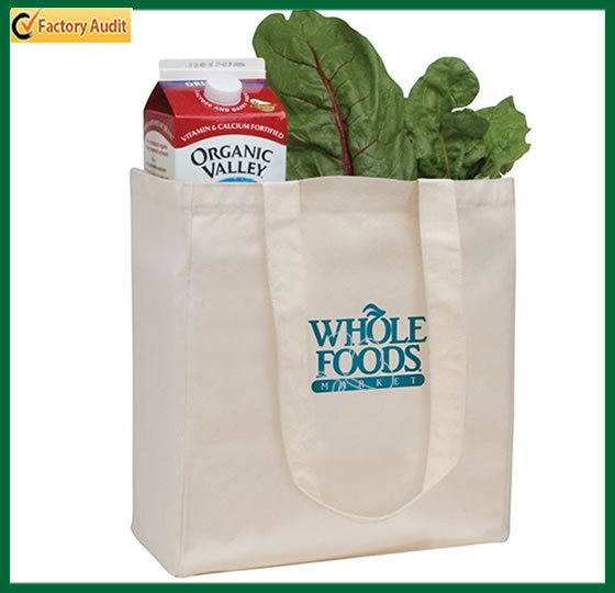 Wholesale Plain White Shopping Carrier Cotton Bags (TP-SP069)