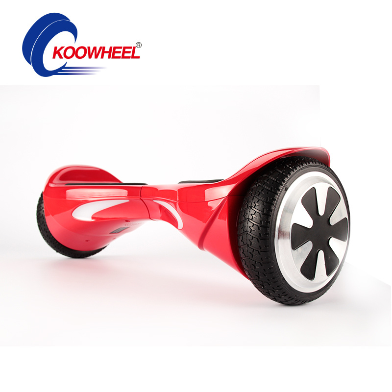 4400mAh Samsung Battery 8 Inch Tire Smart 2 Wheel Electric Standing Scooter Hoverboard Electric Skateboard with Bluetooth Music LED