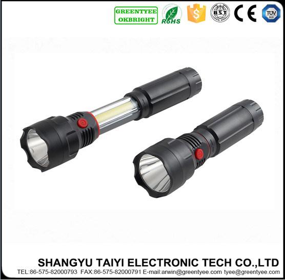 Battery Operated Emergency Strobe Aluminum Flashlight with Magnet