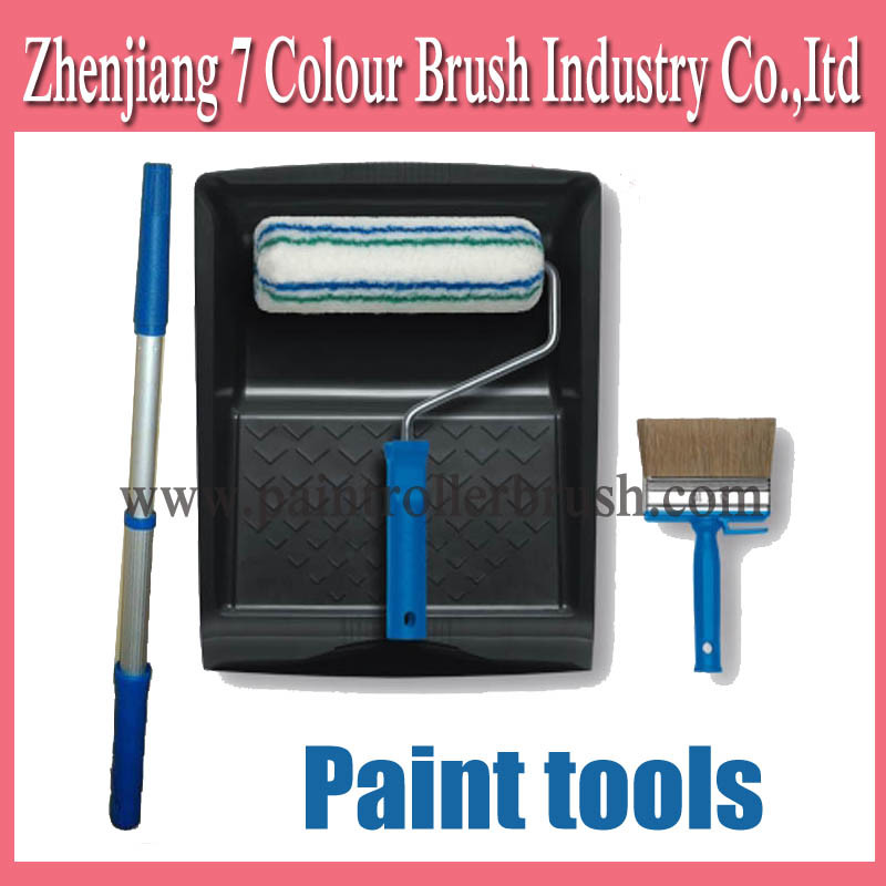 Paint Brush Paint Tray Roller Paint: China Paint Roller Brush With Plastic Tray (C048)