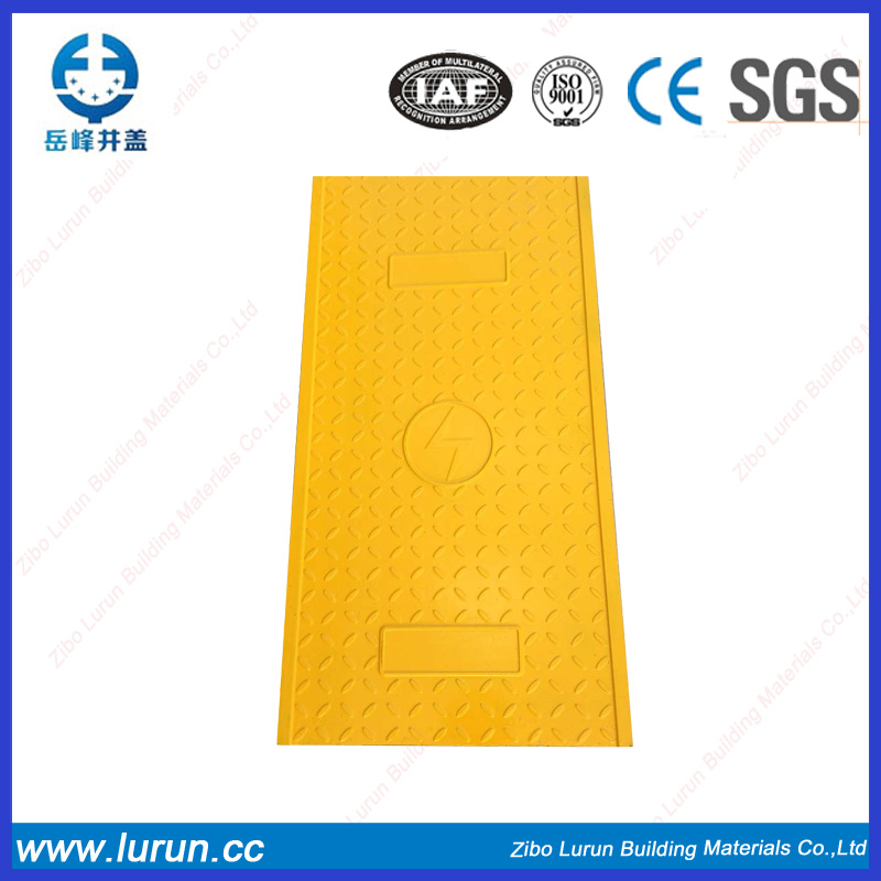 2017 En124 Factory Cable FRP GRP Manhole Cover with Frame