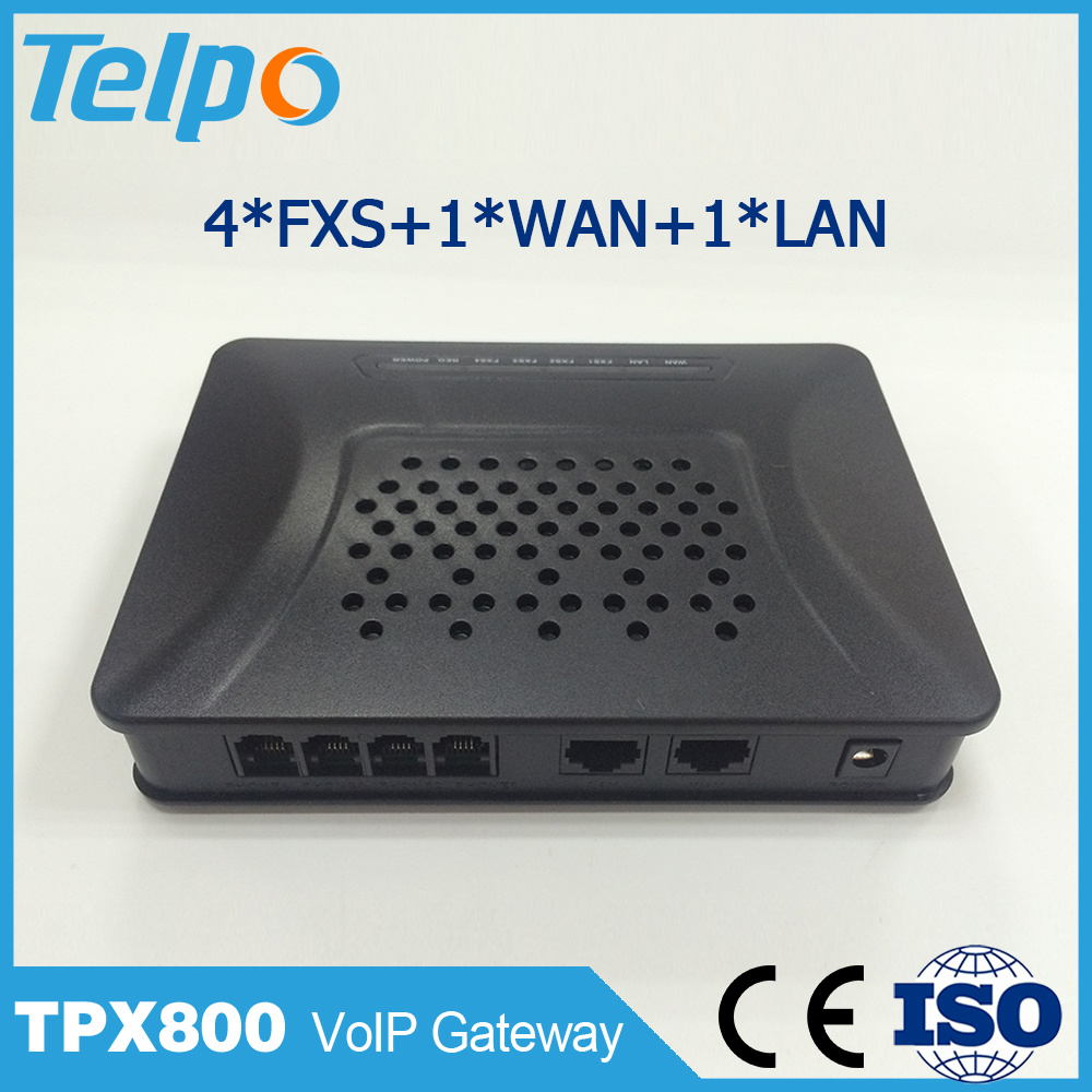 Manufacturer China SIP Residential VoIP Gateway 4port
