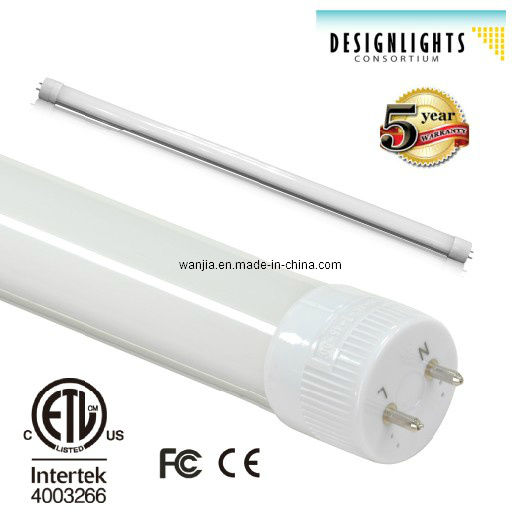 ETL Dlc Listed LED Tube T8