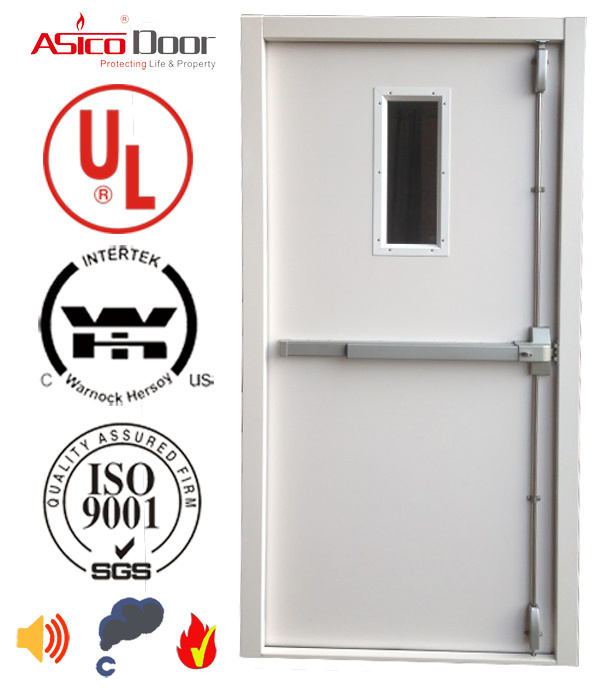 Steel Door Fire Door with American UL Certified Diverse Style Safety Door