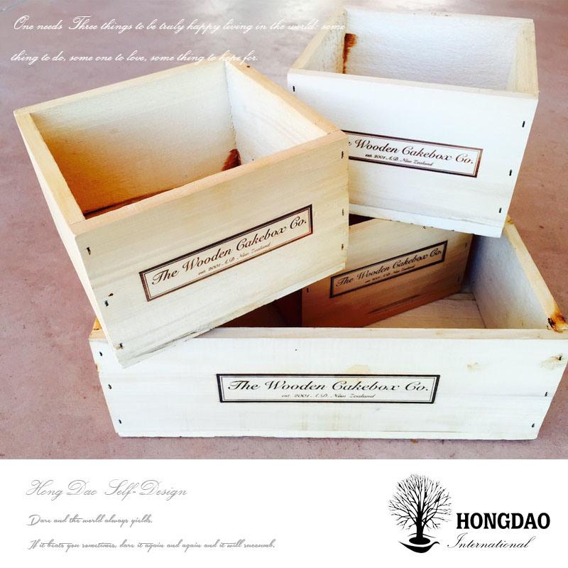 Hongdao Large Wood Box Planter_C