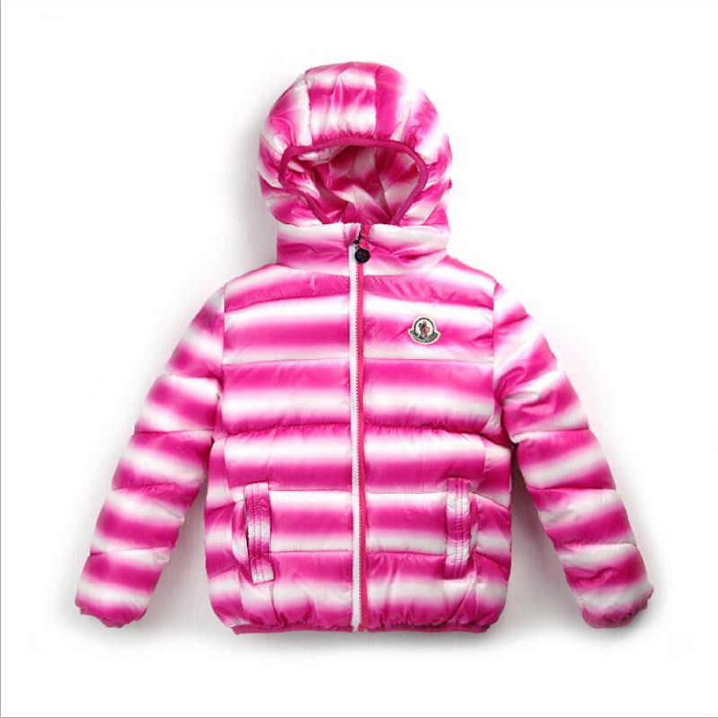 Apparel Striped Children′s Cotton Padded with Hood for Winter Clothing