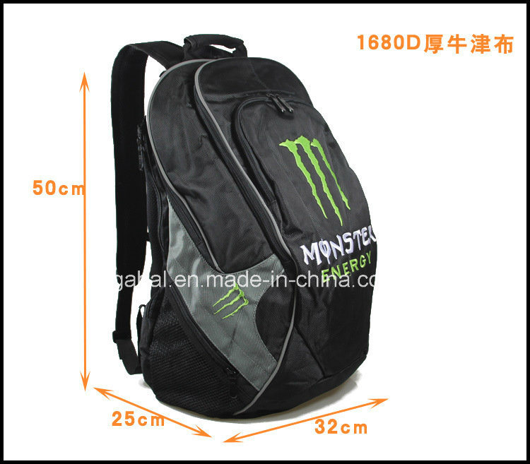 Monster Enery Sports Travel Helmet Bag Backpack with Reflective Strips