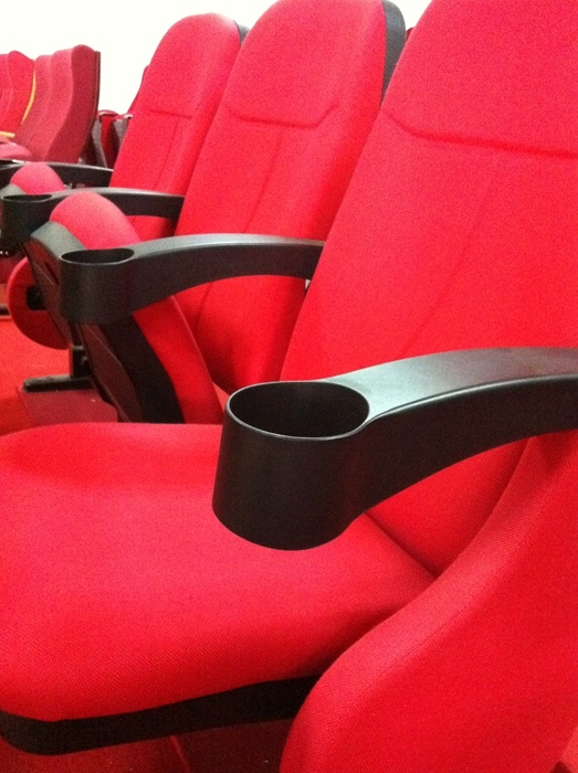 Popular Auditorium Seating, Theater Chair, Cinema Chair with Cup Holder (YA-07C)
