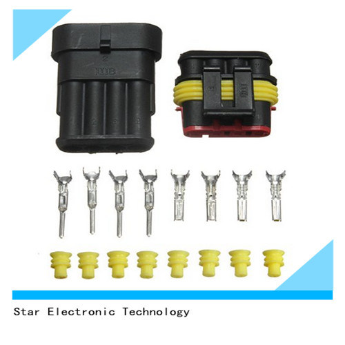 4 Pin Electrical Wire Automotive Connector Sealed Terminals Waterproof china 4 pin electrical wire automotive connector sealed terminals auto connectors for wire harness at eliteediting.co