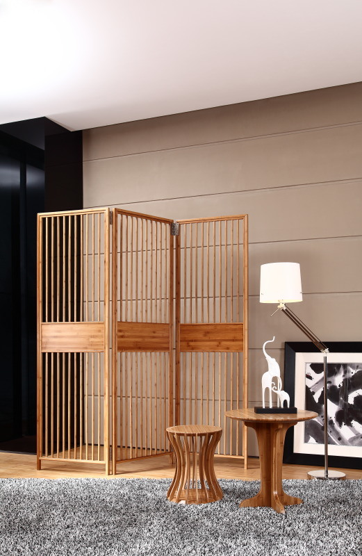 Bamboo Folding Screen Occasional Chair