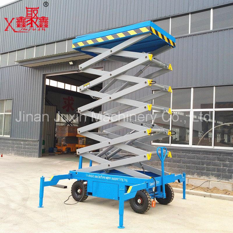 Four Wheels Pulled Scissor Lift Platform