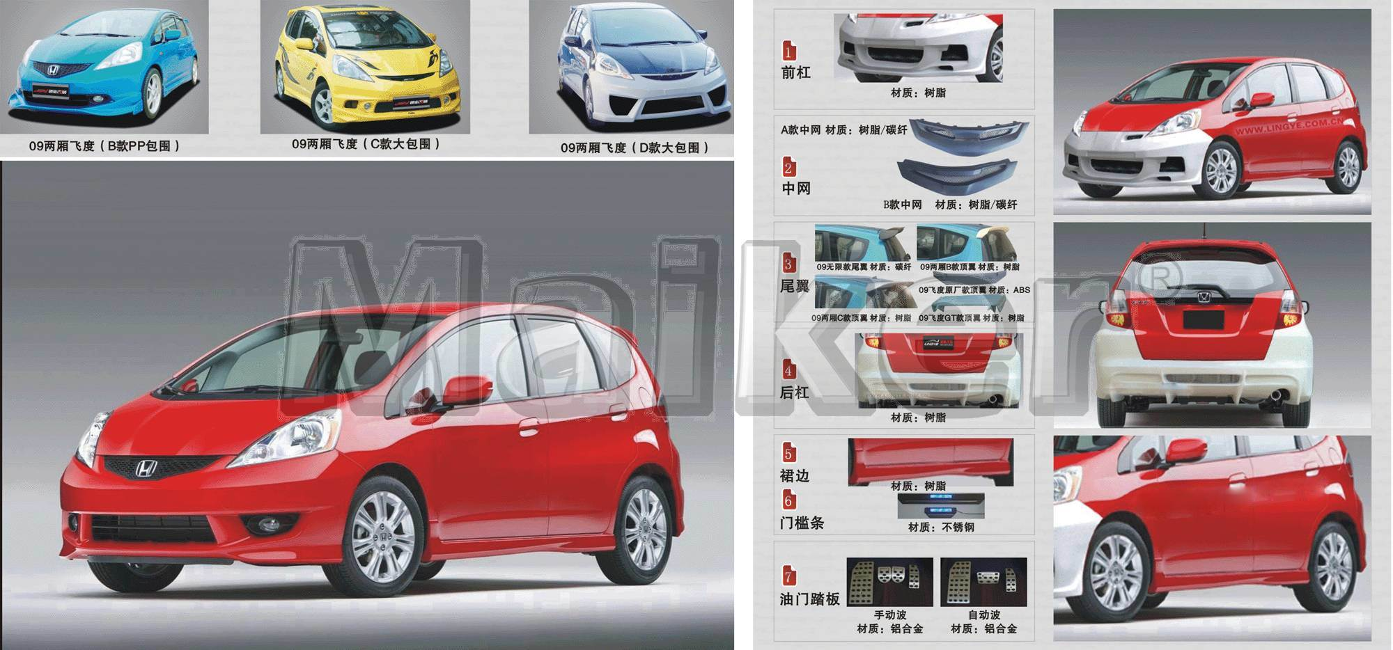 china body kits for honda fit 2009 aerodynamics photos pictures made in. Black Bedroom Furniture Sets. Home Design Ideas