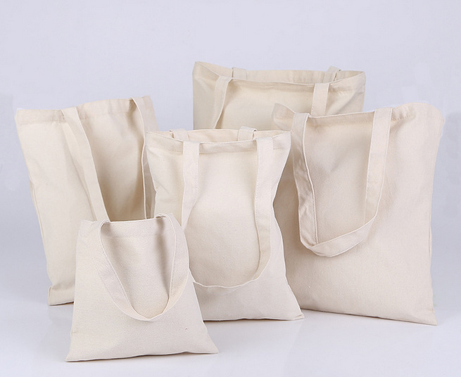 Reusable Shopping Bag Canvas Cotton Tote Bags Carry Bag