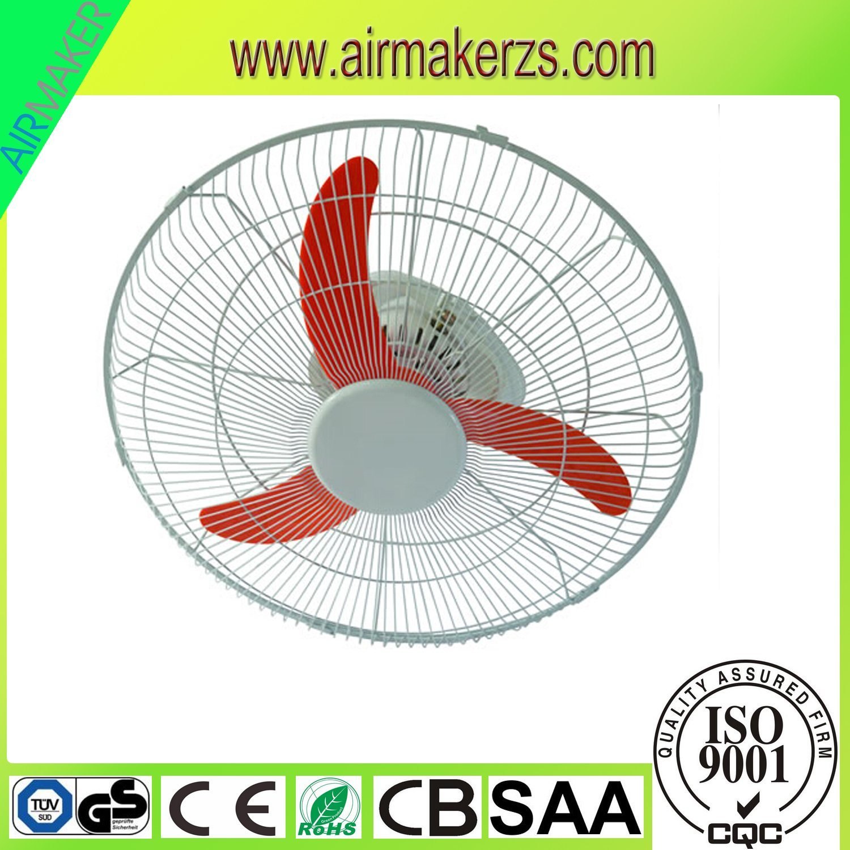 2017 News Plastic Body 16 Inch Wall Mount Oscillating Fan