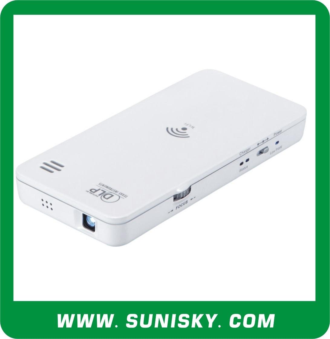 SMP6500 Mini WiFi DLP Projector, Support Smartphone, Tablet PC, Laptop for Business Meeting