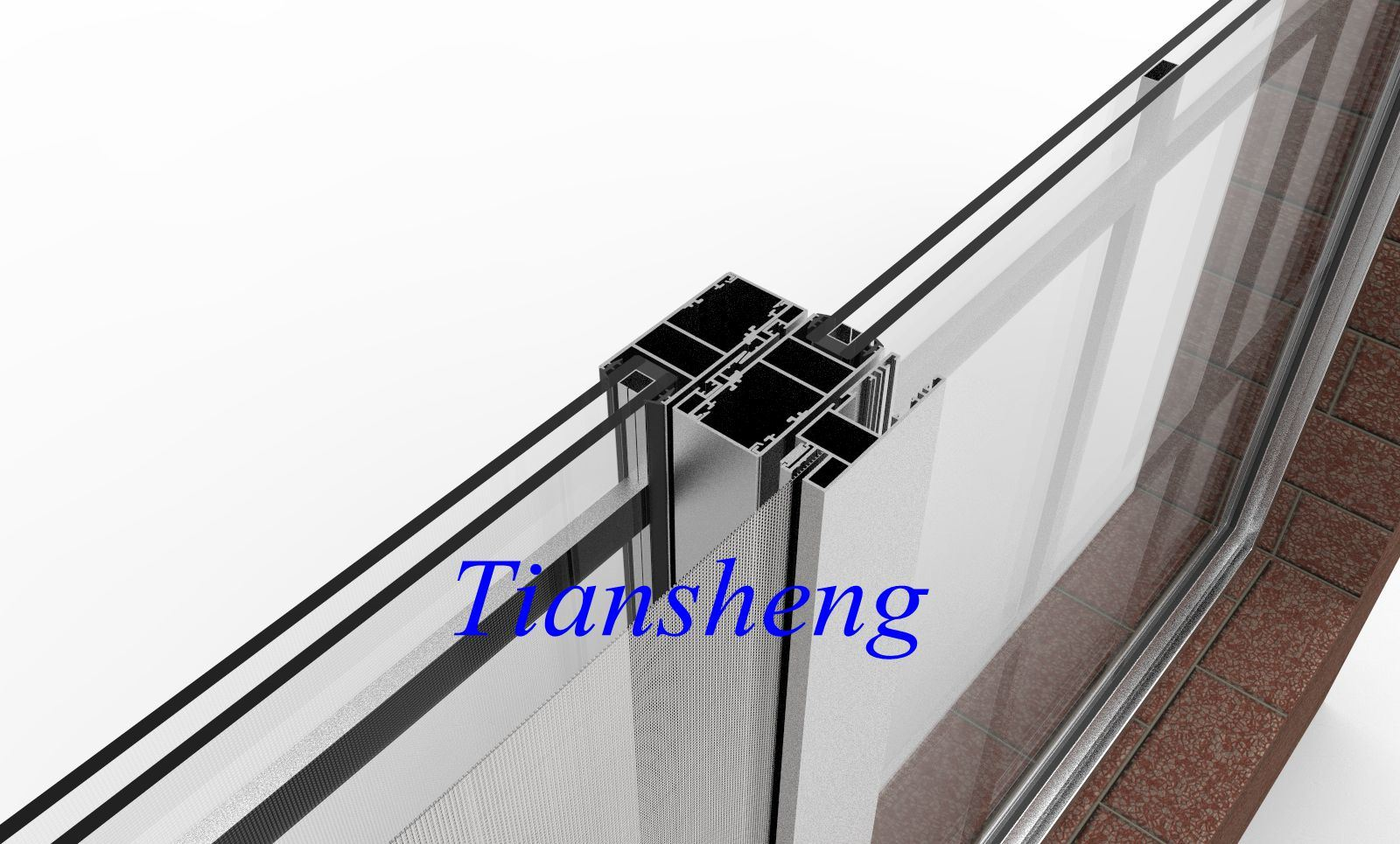 High Quality Customized Glass Window Aluminum Sliding Window with Mosquito Mesh