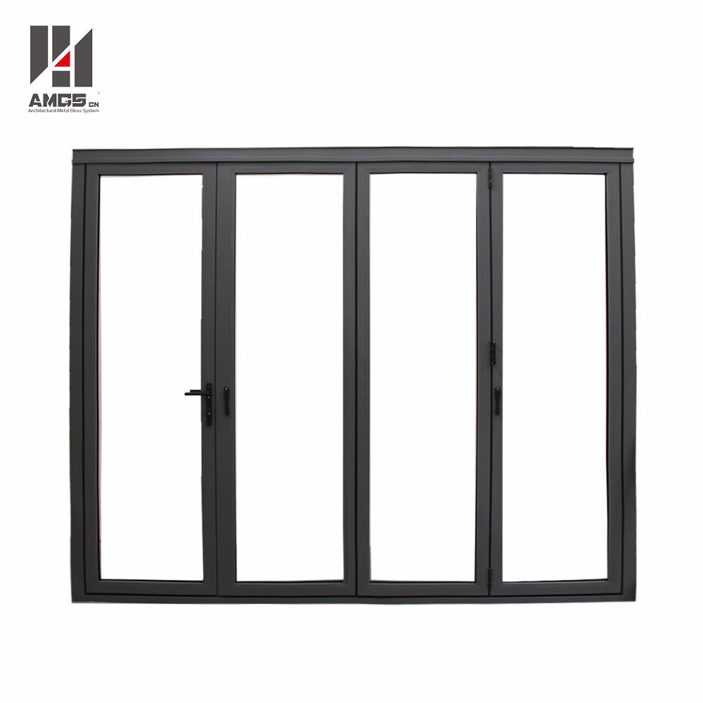 Customzied High Quality Double Glazing Aluminum Exterior Folding Doors