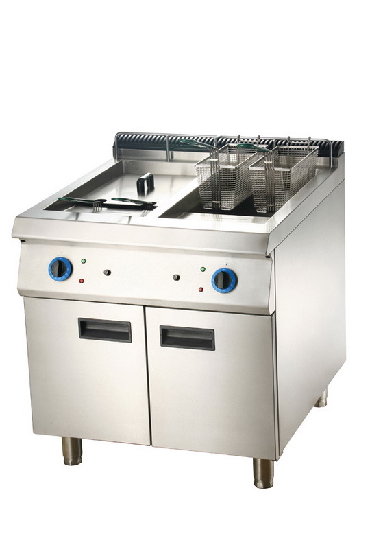 Electric 2-Tank Fryer with Cabinet (LEF-92C/72C)