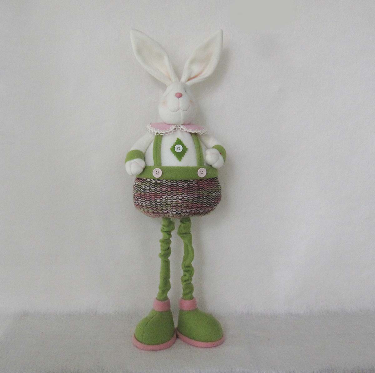 Standing Decoration Easter Garden Boy and Girl Bunny