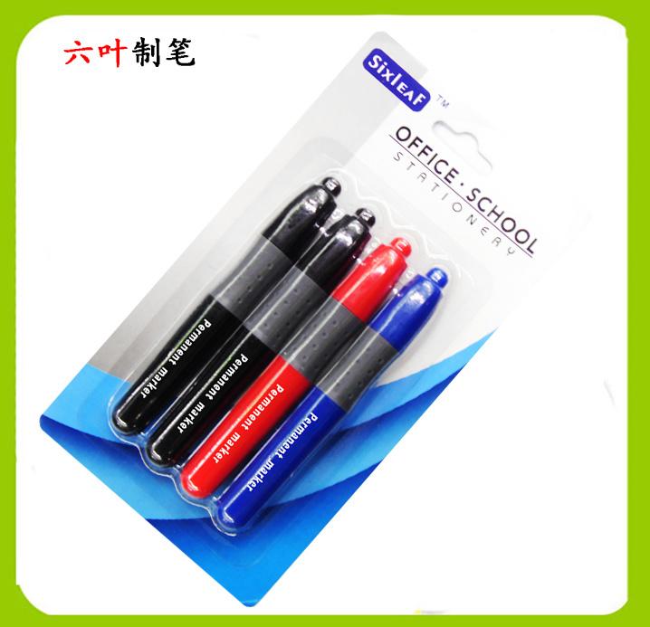 4pk Permanent Marker Pen SL-203, Stationery Set for Super Market