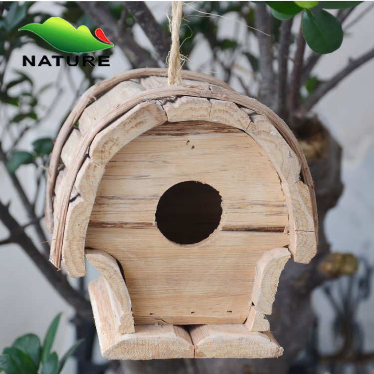 China gardening handmade brown decorative bird houses for for Decorative birds for outside