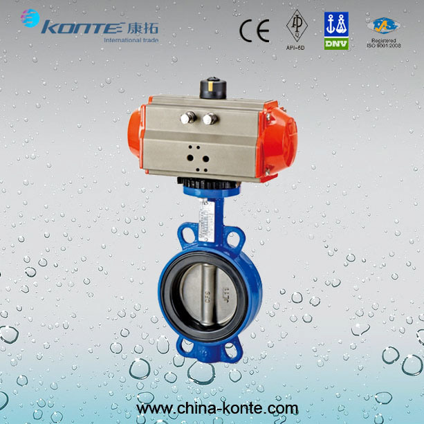 Pneumatic Wafer Butterfly Valve, Cast Iron Butterfly Valve