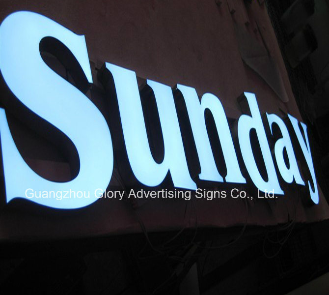 Acrylic LED Shop Signs/Chain Store Sign LED Backlit Board